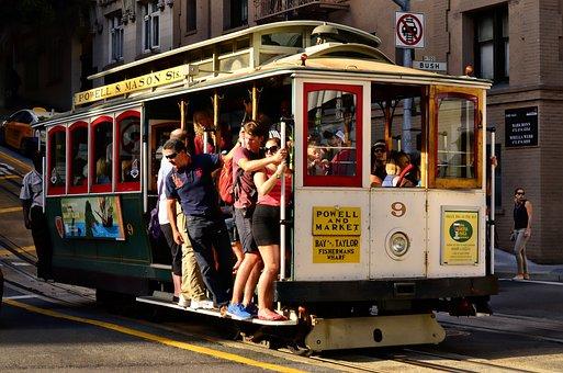 San Francisco, Cable Car, California, Car, Cable