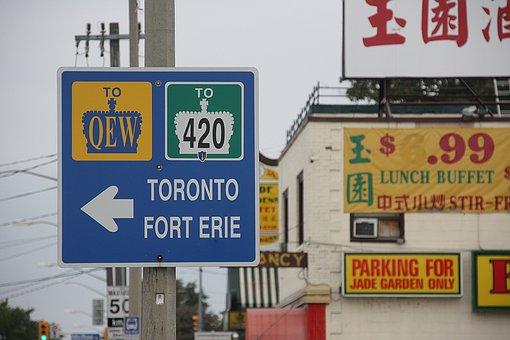 Niagara, Canada, Border Area, Road Signs, Confused