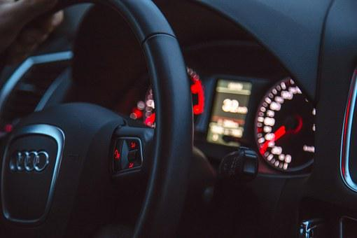 Car, Audi, Steering Wheel, Dashboard, Interior