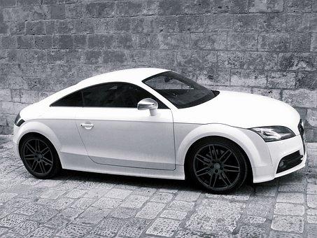 Audi, Audi Tt, White, Automobile, Automotive, Car