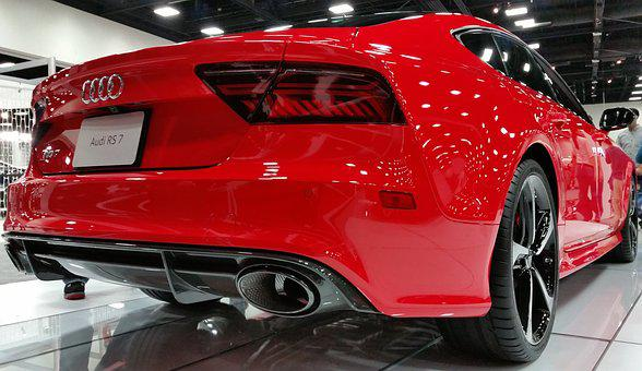 Audi Rs7, Sports Car, Expensive, Red, Auto, Car Show