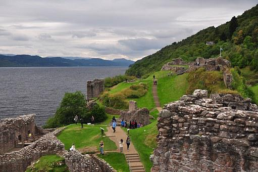 Scotland, Loch Ness, Urquhart, Castle, The Ruins Of The