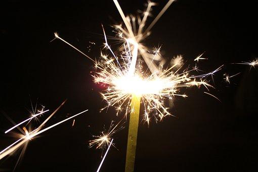 Sparkler, Fireworks, Celebrate, July 4th, Freedom
