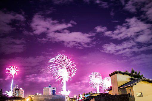 Fireworks, Independence Day, Celebration, New, Year