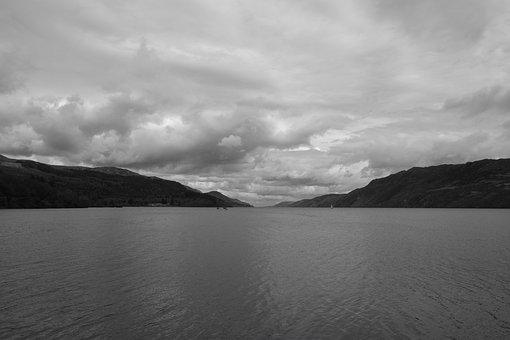 Loch Ness, Lake, Scotland, Hole, Nature, Clouds