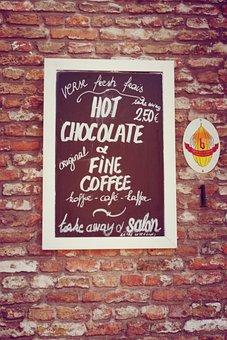 Signage, Chocolate, Sign, Menu, Coffee, Coffee Shop