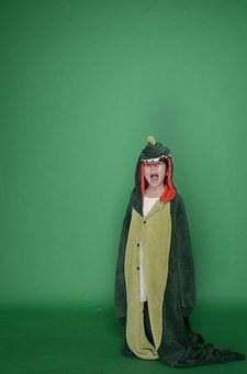 Dinosaur, Green, Cute, Military Cap, Army Backpack