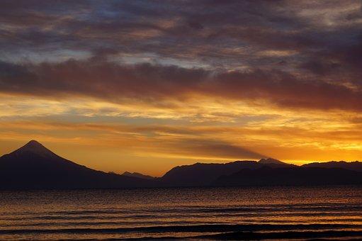 Osorno Volcano, Dawn, Llanquihue, Chile, Nature