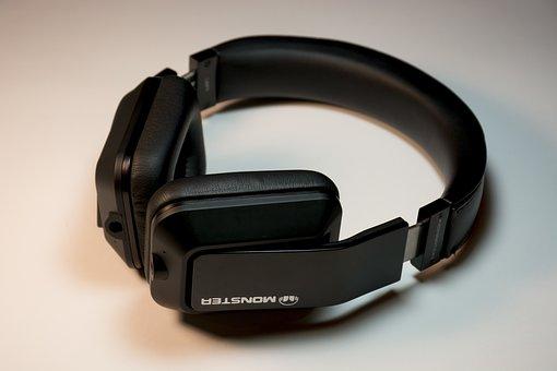 Headphones, Monster, Sound, Speaker, Electronic, Dj