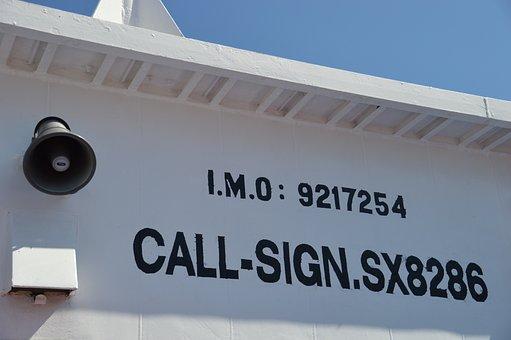 Ferry, Greece, Chalki, Call Sign, Loud Speaker, Sun