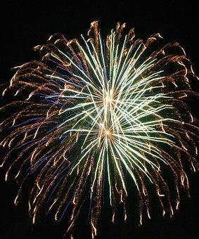 Fireworks, Explode, Night, Celebration, Explosion