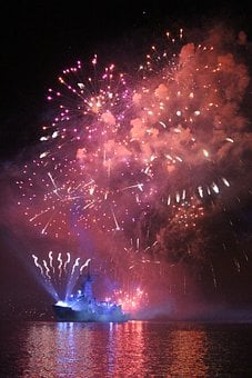 Fireworks, Navy, Harbour, Maritime, Patriotism