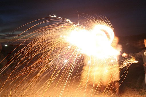 Fireworks, Sparks, Holiday, Celebration, Pyrotechnics