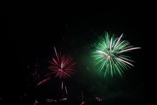 Rocket, Green, Fireworks, New Year's Eve