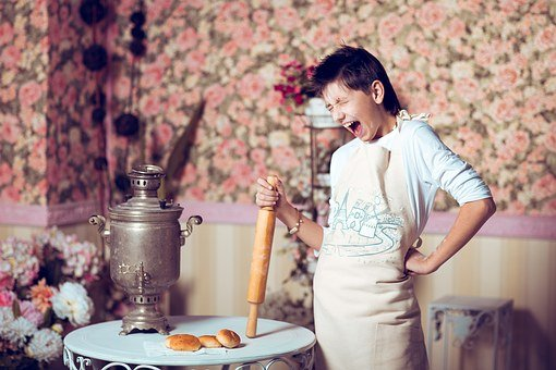 Man, Cooking, Baking, Gift, Spring, Cry, Emotions