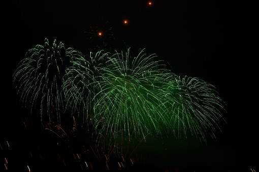 Rocket, Green, Fireworks, Red, New Year's Eve