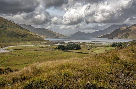 Loch Hourn, Scotland, High, Mountains, Highland, Hills