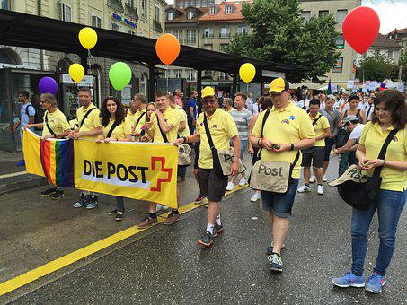Gai, Pride, Fribourg, Switzerland, Poster, Lgbt