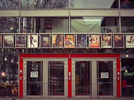 Cinema, Movie Theater, Movies, Input, Posters, Doors