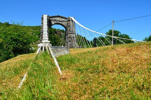 Bridge, Scotland, Water, Landscape, Nature, Clouds, Sky