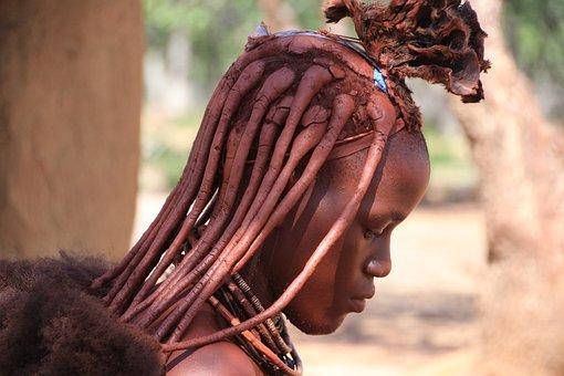 Namibia, Himba, Africa, Indigenous, Frai, Negro