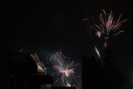 Fireworks, Rocket, New Year's Eve, Night