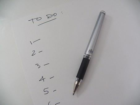 List, To Do List, Reminder, To-do, Office, Write, Pen