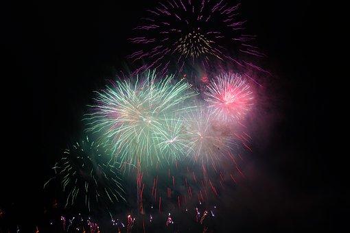 Rocket, Orange, Fireworks, Red, New Year's Eve