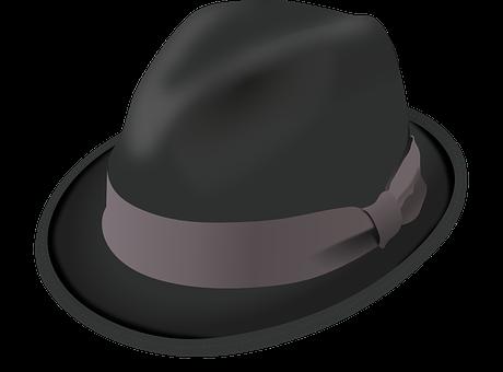 Hat, Trilby, Black, Brim, Crease, Felt, Pinch, Ribbon