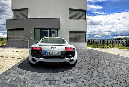Audi, R8, Sports Car, Thunder, Thunderstorm, Flash