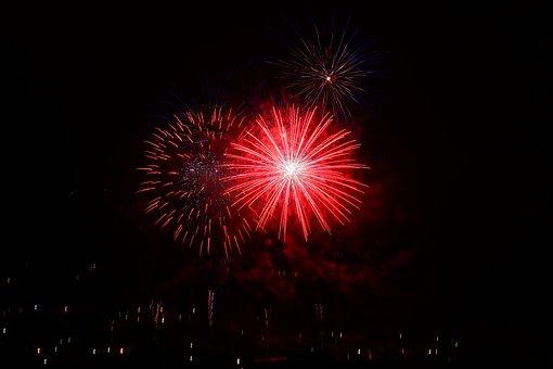 Rocket, Red, Star, Bomb, Fireworks Bomb, Fireworks