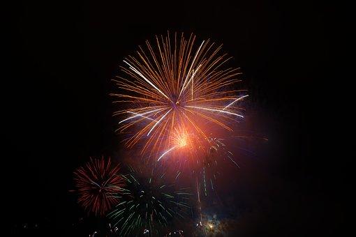 Rocket, Orange, Fireworks, New Year's Eve
