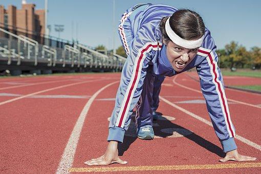 Running, Sprint, Cinder-track, Cinderpath, Start