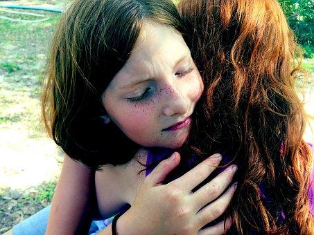 Hug, Sadness, Comfort, Grief, Sad, Family, Face