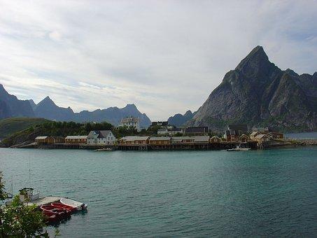 Norway, Lofoten, Landscape, Scandinavia, Mountain, Sea