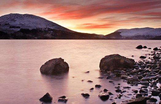 Loch Earn, Scotland, High, Loch, Earn, Mountains
