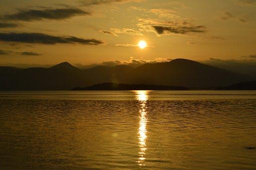 Loch, Lomond, Scotland, Scottish, Lake, Water, Sun