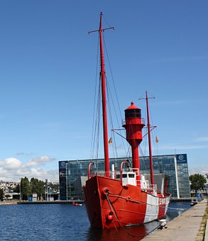 Lightship, Le Havre, France, Ship, Water, Boat, Summer