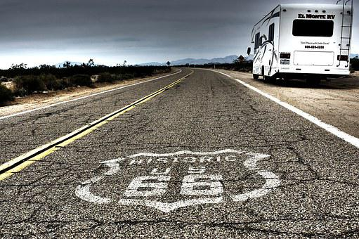 Ruta66, Route 66, Road, United States, Poster, Signal