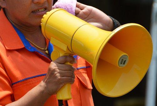 Megaphone, Loud Hailer, Loud-hailer, Speech, Speaker