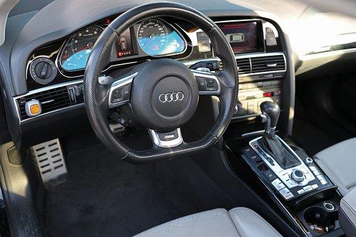 Audi, Cockpit, Steering Wheel, Auto, Vehicle, Pkw, Rs6