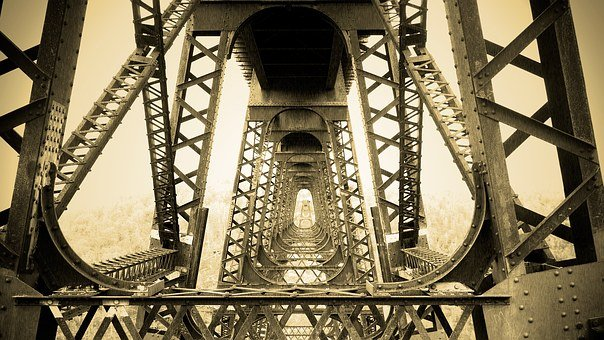 Bridge, Metal, Structure, Iron, Girder, Support, Kinzua