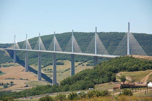 Millau Viaduct, Summer, Holiday, France