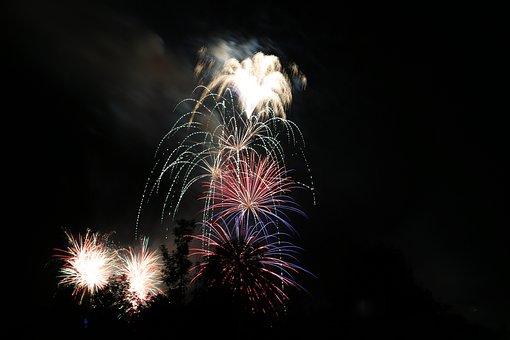 Fireworks, Rocket, Lights, Sylvester, Explosion