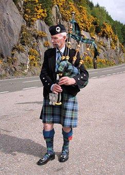 Bagpiper, Loch Ness, Kilt, Tartan, Traditional