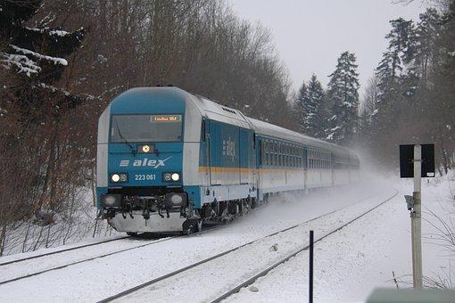 Railway, Train, Winter, Allgäu, Allgäu Railway, Alex