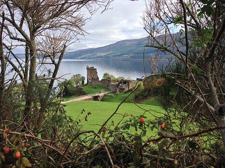 Urquart Castle, Loch Ness, Scotland, Lake, Myth
