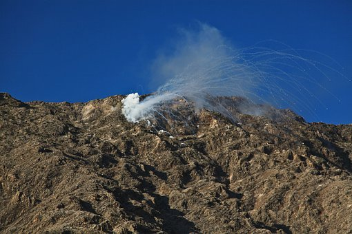 Explosion, Grenade, Shelling, Under Fire, War