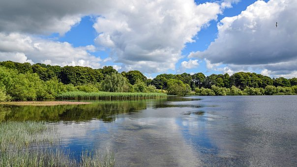 Scotland, England, Loch Leven, Lake, Clouds, Sky, Water