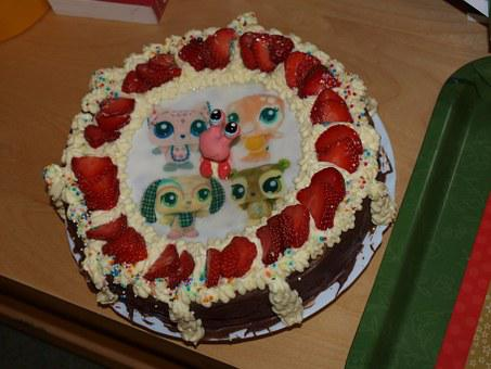 Cake, Birthday, Confectioner's, Kid, Children, Jubilee